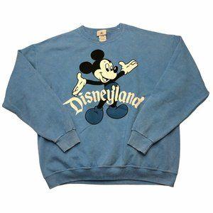 Disneyland Mickey Sweatshirt Pullover Blue Retro